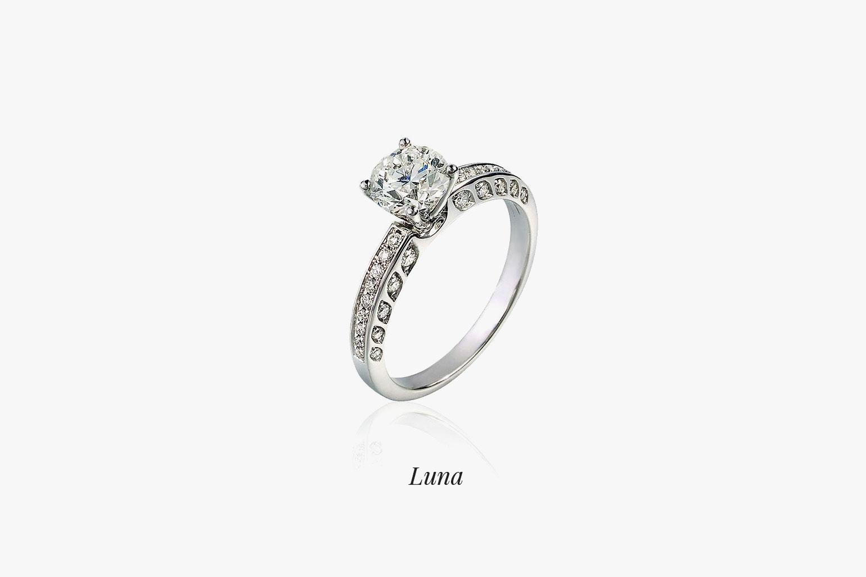 Zásnubný prsteň Luna